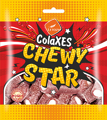 СolaXES CHEWYSTAR  со вкусом cola flavour sweets in sour-sweet dustin, jelly filled